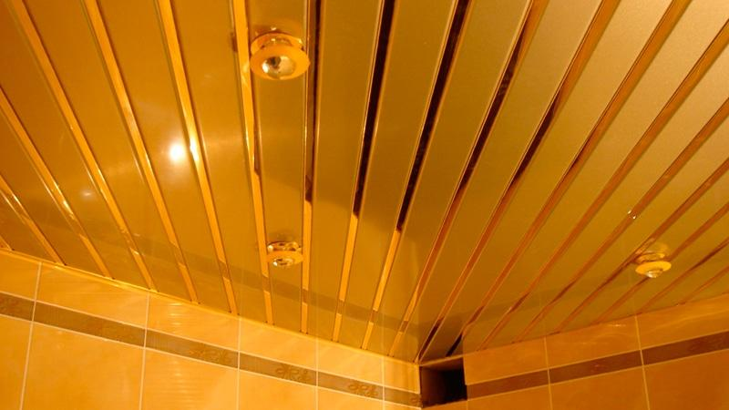 Установка реечного потолка в ванной своими руками