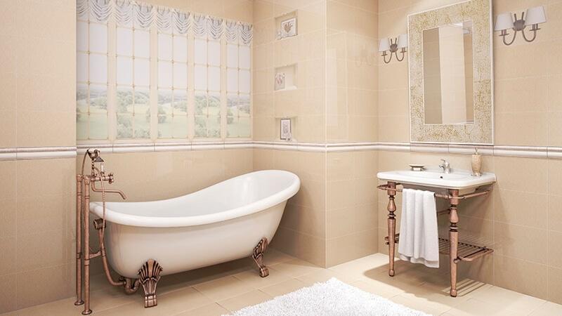 Оформление ванной комнаты в стиле прованс