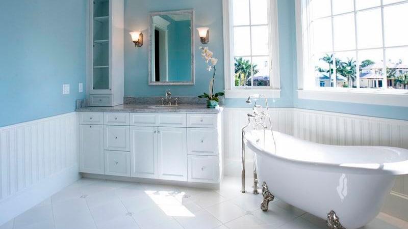 Прванский стиль в ванной комнате