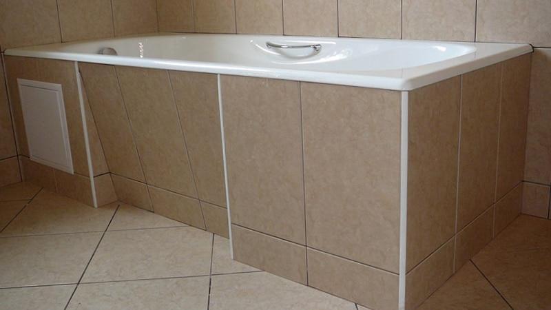 Экран для ванны из плитки
