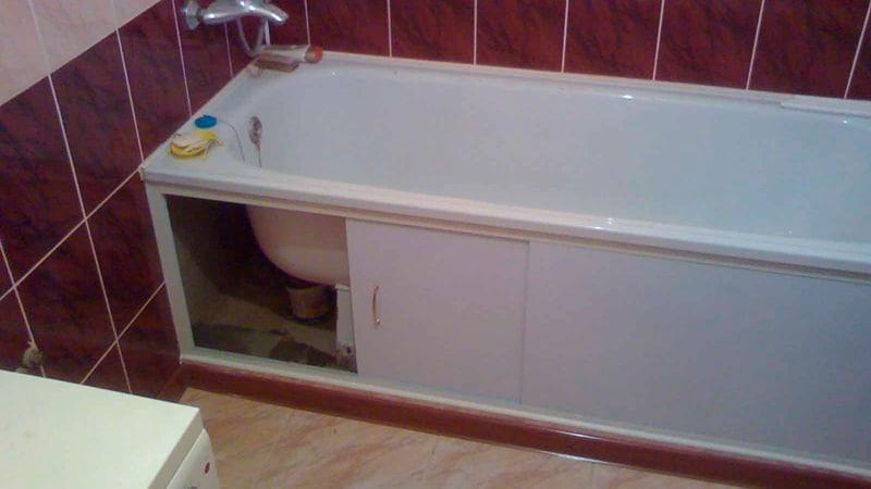 Пластиковые панели для ниши под ванну