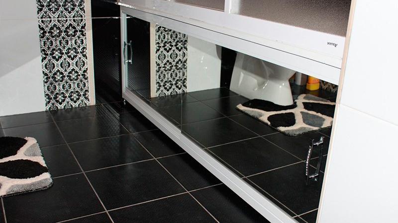 Экран зеркальный под ванну