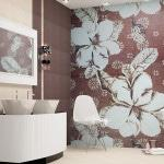 Панно из керамики в ванную комнату