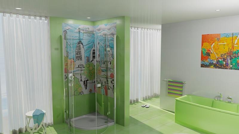 Керамическое панно в ванную комнату
