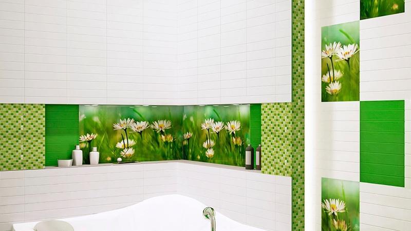 Панно из керамической плитки в ванную комнату