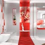 Уладка плитки в интерьере ванной комнаты