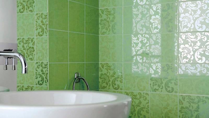 Вариант укладки плитки в ванной