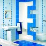 Вариант укладки плитки в ваннной
