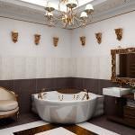 Вариант оформления ванной комнаты