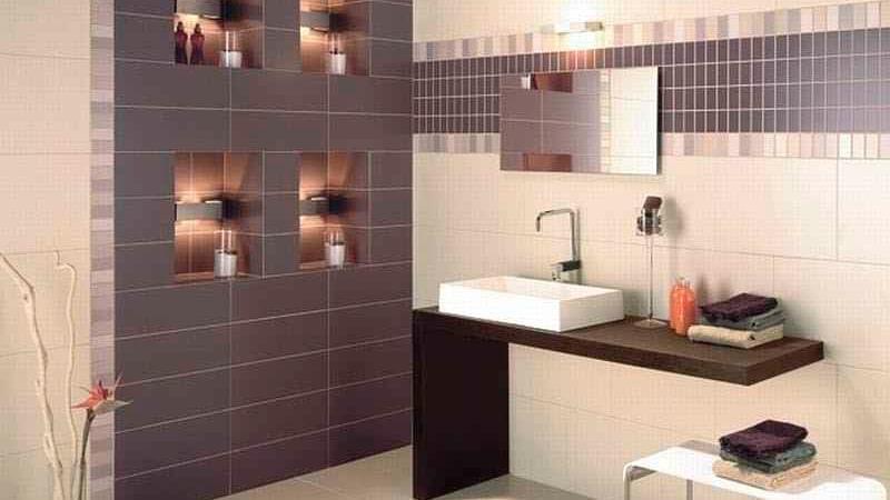 Ванная комната - вариант оформления стен