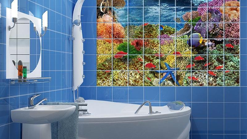 3д плитка в ванную