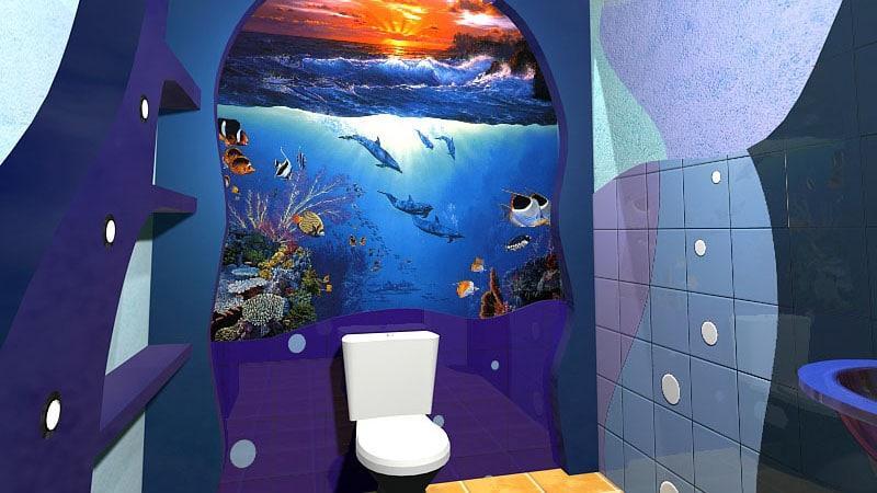 Оригинальная плитка для ванной комнаты