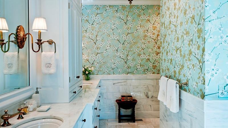 Фотообои в ванной дизайнов