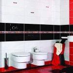 Яркая цветная плитка создаст авангардный дизайн ванной