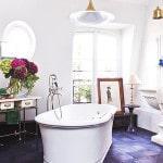 Цветная напольная плитка во французском стиле