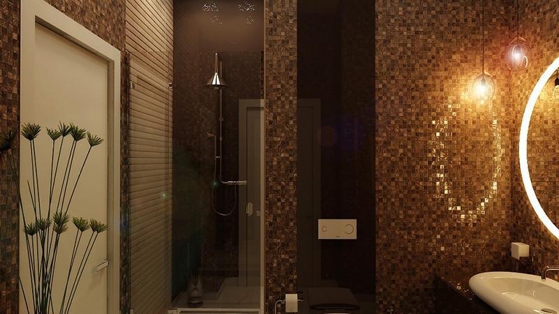 Цветная мозаика в ванной