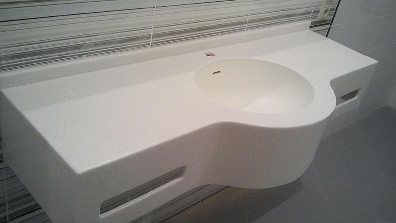 Акриловая столешница для ванной