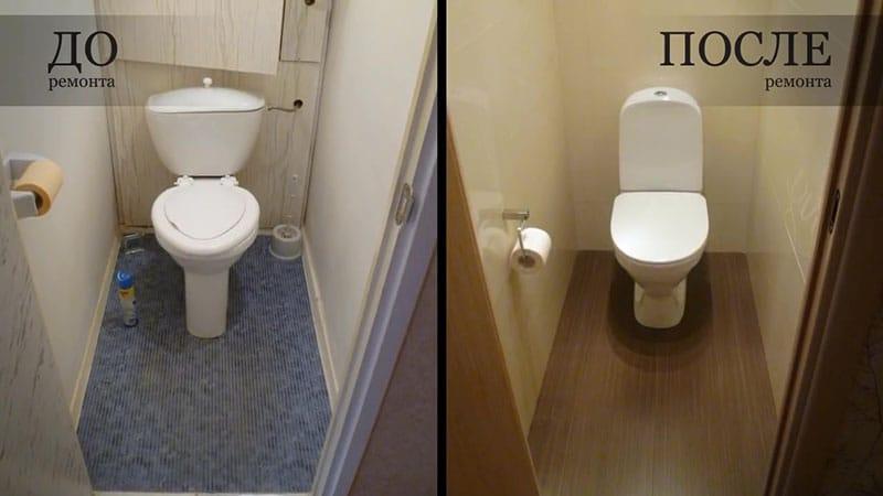 Ремонт ванных комнат фотографии до и после