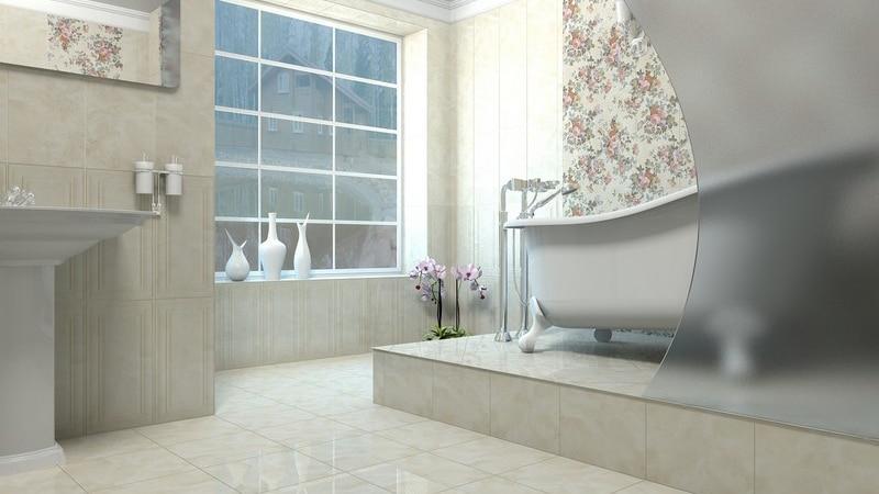 Керамическая плитка для маленькой ванной комнаты