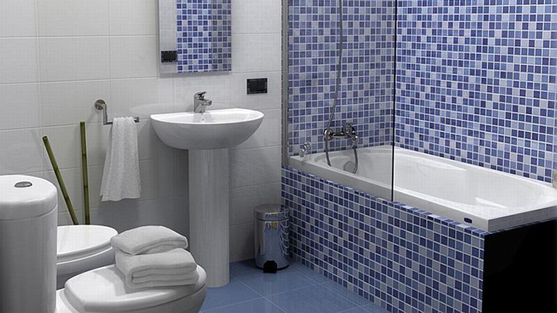 Дизайн ванной комнаты с мозаичной плиткой