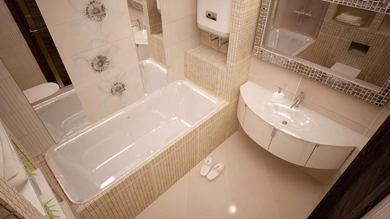 Дизайн интерьера маленькой ванной фото
