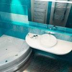 Дизайн узкой ванной