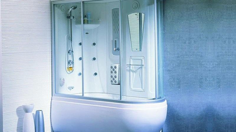 Комбинированная модель душевой кабины с ванной