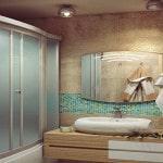 Прямоугольная модель душевого бокса заменяет ванну
