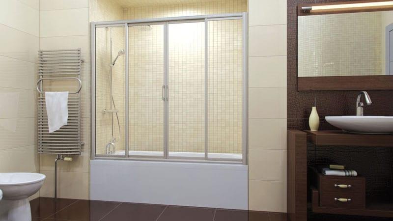 Шторки для душевой кабины и ванной