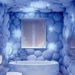Лавандовый оттенок в ванной