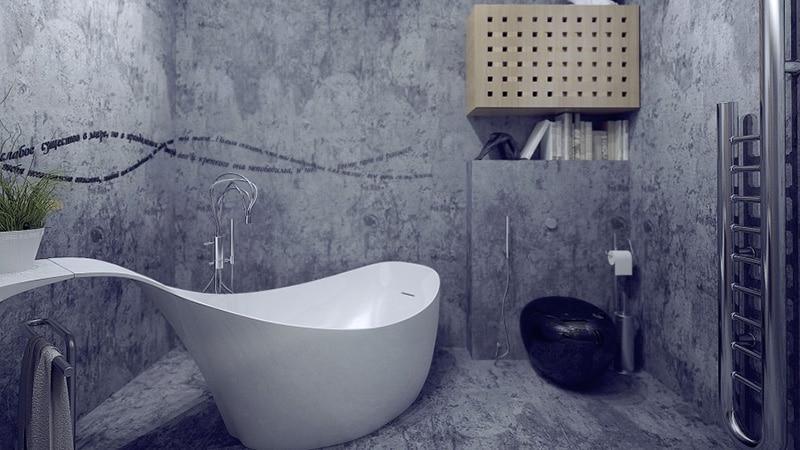 Стиль хай-тек в дизайне ванной комнаты