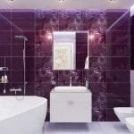 Фиолетовая плитка с декором