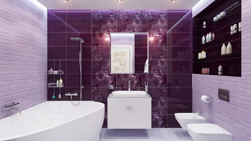 Ванная комната дизайн фото фиолетовая