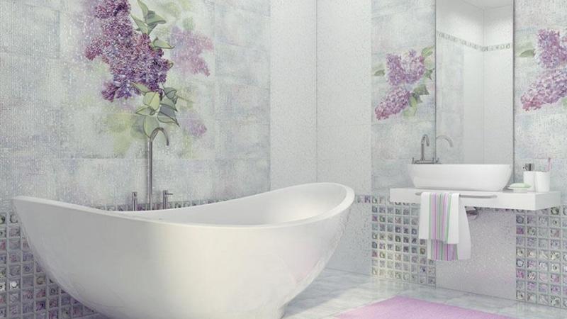 Кафель фиолетовый для ванной комнаты дизайн