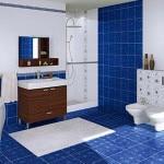 Фото синей плитки в ванную комнату