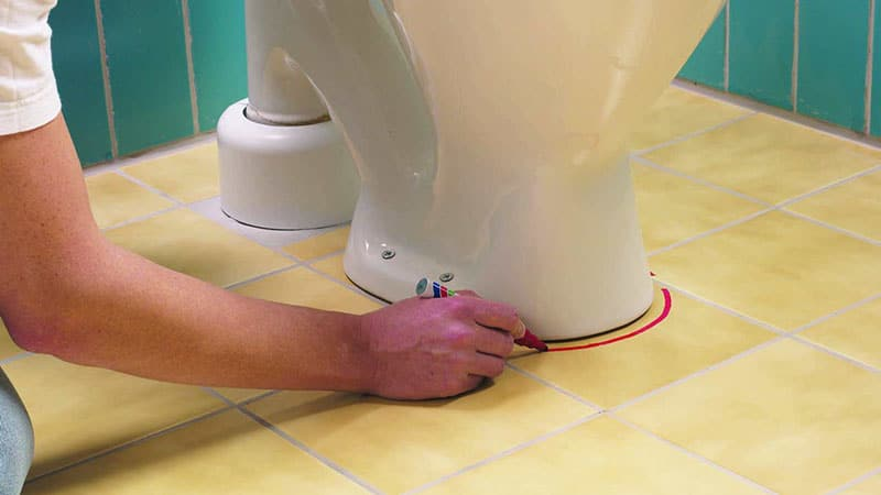 Процесс ремонта санузла