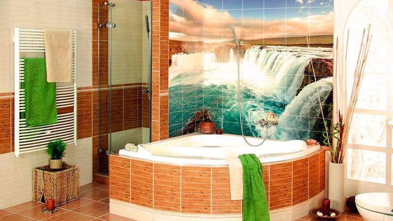 Фотоплитка в ванной