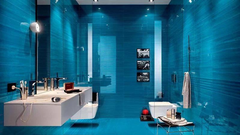 Синяя ванная комната фото дизайн