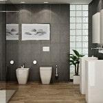 Оригинальная идея для оформления ванной комнаты