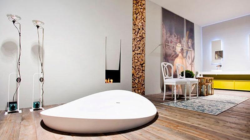 Оригинальная идея оформления ванной комнаты