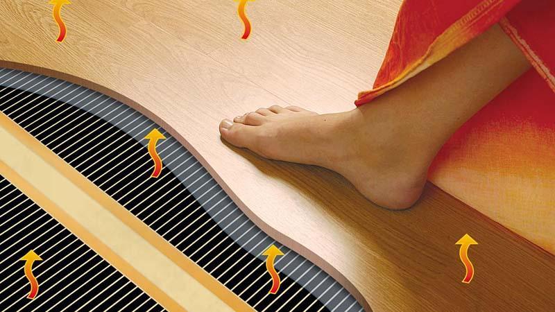 Инфракрасный пол нагревает предметы, но остается при этом прохладным