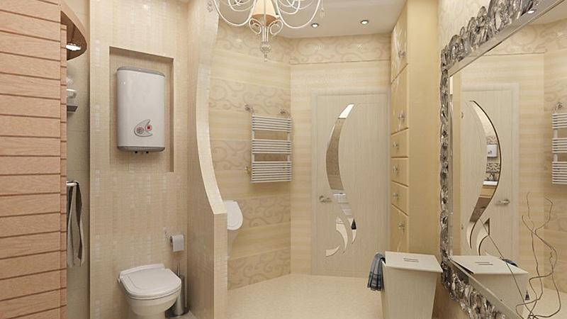 Интерьер ванны с туалетом