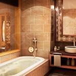 Оригинальный дизайн ванной комнаты