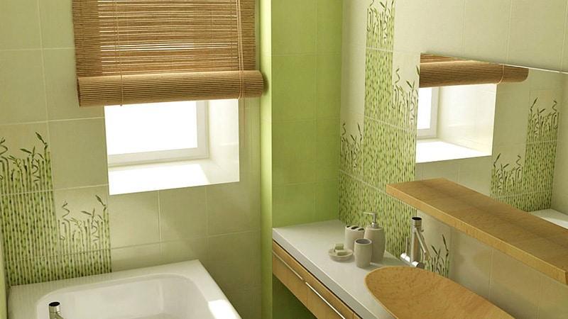 В экологическом стиле дизайна используют кафель природных расцветок