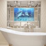 Панно из мозаики в дизайне ванных