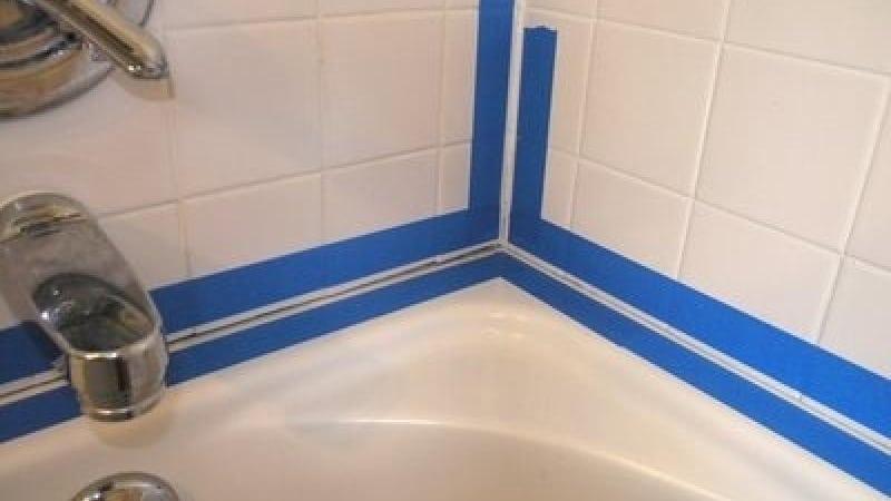 Оформление шва между стеной и ванной силиконом