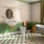 Как класть плитку в ванную комнату