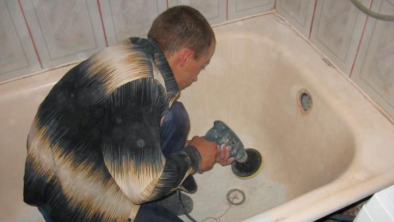 Как окрасить ванну эмалью