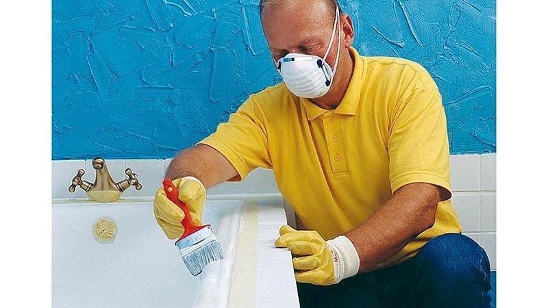 Окрашивание ванны эмалью и акрилом