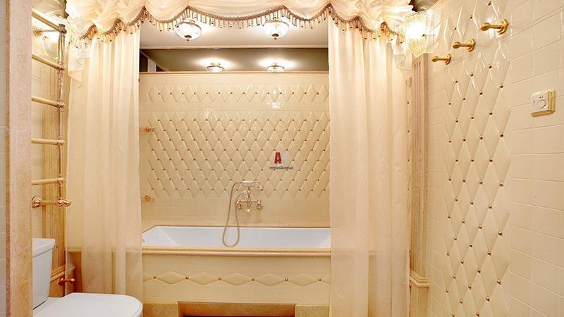 Оформление ванной плиткой